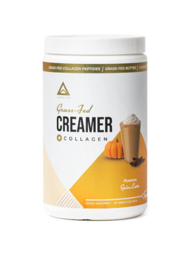 Level Up Nutra Pumpkin Spice Latte Grass Fed Keto Creamer with Collagen (15 Servings)
