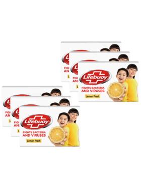 Lifebuoy Antibacterial Soap Lemon Fresh 75g (Bundle of 6)