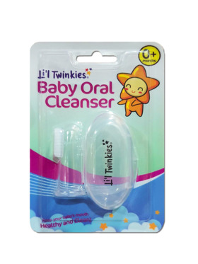Li'l Twinkies Baby Oral Cleanser Silicone Toothbrush / Soother