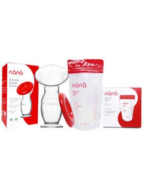 Nana Silicone Breastpump (100ml) + Breastmilk Bag (200ml)