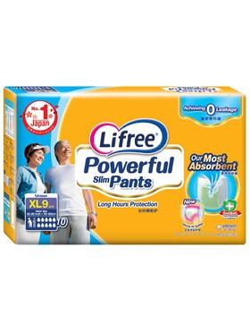 Lifree Powerful Thin Pants - Adults Extra Large (9pcs)