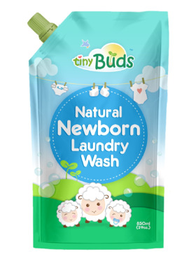 Tiny Buds Natural Newborn Liquid Laundry Wash for Babies Pouch (850ml)