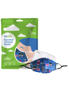 Totsafe Lifestyle Mask - London Set (with 3 filters)