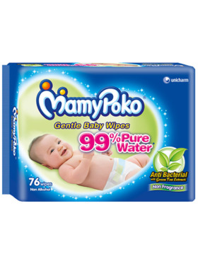 MamyPoko Baby Wipes Fragrance Free (76 pulls)