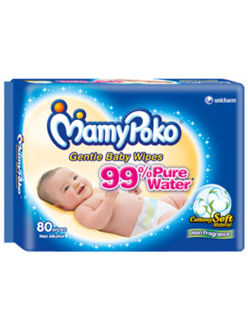 MamyPoko Baby Wipes Fragrance Free (80 pulls)