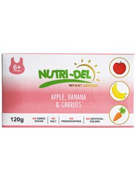 Nutridel Baby Food Apple Banana Carrots Infant Cereal 120g (3-Pack)