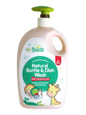 Tiny Buds Natural Bottle & Dish Wash Fragrance-Free (600ml)