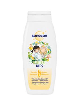 Sanosan Natural Kids 2 in 1 Shower & Shampoo - Banana (250ml)