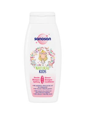 Sanosan Natural Kids 3 in 1 Shower, Shampoo & Conditioner (250ml)