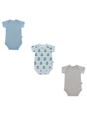 Bamberry Baby Anchor Onesies (Set of 3)