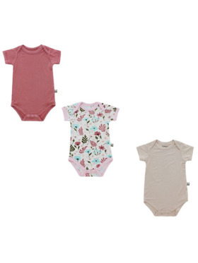 Bamberry Baby Floral Onesies (Set of 3)