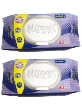 Nursy Wipes Nursy Baby Wipes Bed Time 2-Pack (180 pcs)