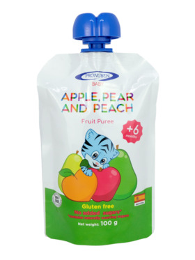 Pronuben Baby Apple, Pear and Peach Fruit Puree (100g)