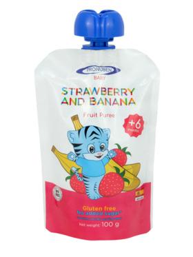 Pronuben Baby Strawberry and Banana Fruit Puree (100g)