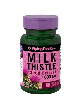 Piping Rock Milk Thistle Seed Extract 1000mg (100 capsules)
