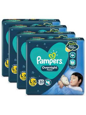 Pampers Overnight Pants Large Bundle 4 x 30pcs (120 pcs)