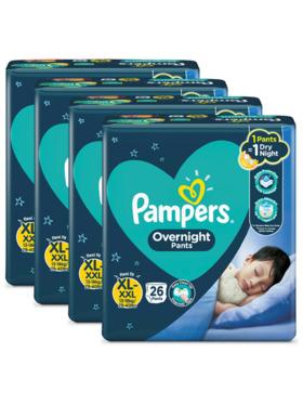 Pampers Overnight Pants Extra Large Bundle 4 x 26pcs (104 pcs)