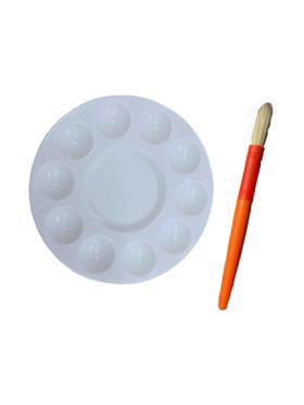 LunaLoveMNL Circle Paint Palette with Large Brush