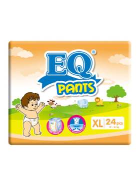 EQ Diapers and Wipes Pants Big Pack Pants Diaper Extra Large (24 pcs)