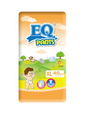 EQ Diapers and Wipes Pants Jumbo Pack Pants Diaper Extra Large (40 pcs)