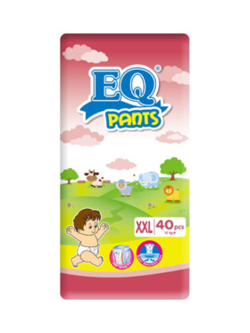 EQ Diapers and Wipes Pants Jumbo Pack Pants Diaper XXL (40 pcs)