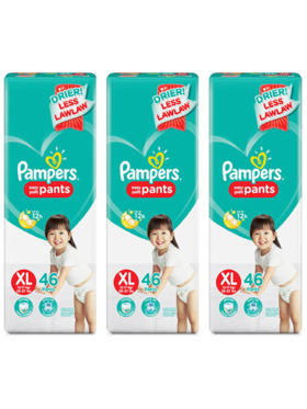 Pampers Baby Dry Pants Extra Large Bundle 3 x 46pcs (138 pcs)