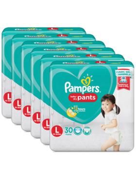 Pampers Baby Dry Pants Large Bundle 6 x 30pcs (180 pcs)