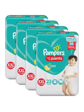 Pampers Baby Dry Pants XXL Bundle 4 x 22pcs (88 pcs)