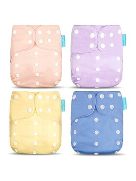 Happy Flute Pastel Cloth Diapers