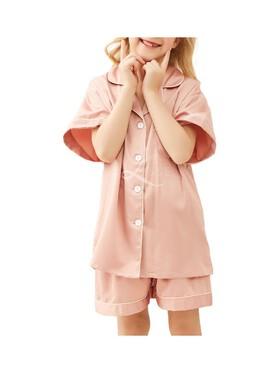 Lisse Plain Jane Short Pajama Set for Kids