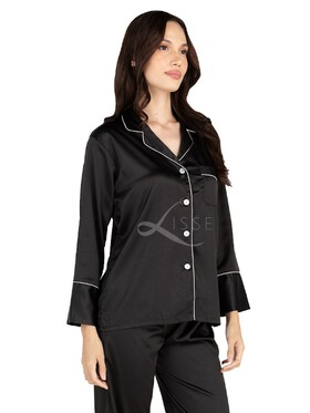Lisse Plain Jane Long Pajama Set