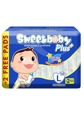 Sweetbaby Plus Disposable Diapers Large (28s)