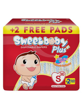 Sweetbaby Plus Disposable Diapers Small (36s)