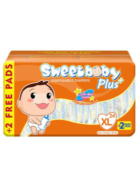Sweetbaby Plus Disposable Diapers Extra Large (24s)