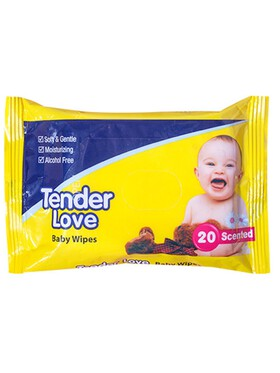 Tender Love Powder Scent Baby Wipes (20s)