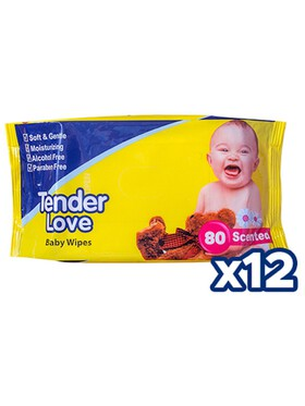 Tender Love Powder Scent Baby Wipes 12-Pack (80s)