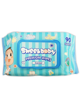 Sweetbaby Premium Wipes with Aloe 90's (3-Pack)