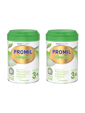 Promil PROMIL® ORGANIC Powdered Milk Drink for Pre-Schoolers 900g (Bundle of 2)