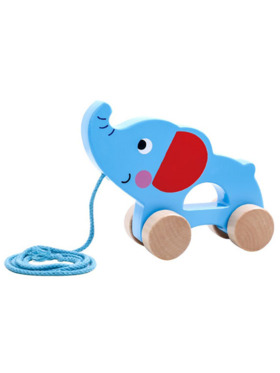 Tooky Toy Pull Along Toy - Elephant