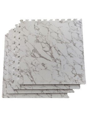 Olive and Cloud Marble Puzzle Mats
