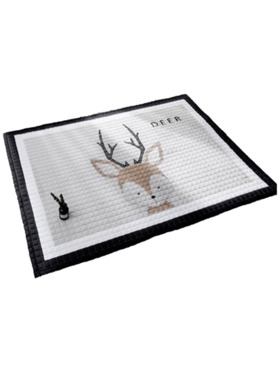 Lulubaby Deer Quilted Non Skid Playmat