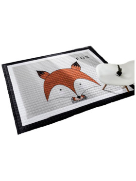 Lulubaby Fox Quilted Non Skid Playmat