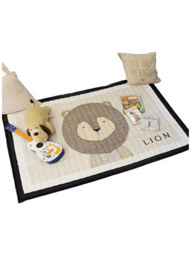 Lulubaby Lion Quilted Non Skid Playmat