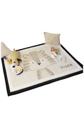 Lulubaby Tiger Quilted Non Skid Playmat