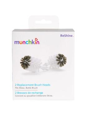 Munchkin Reshine Refill Bottle Brush Heads (Pack of 2)