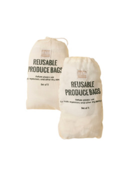 Habi Lifestyle Reusable Produce Bag Sets (Set of 5)