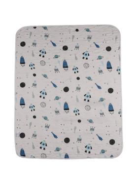 Knicknacks Rocket Waterproof Bed Pad