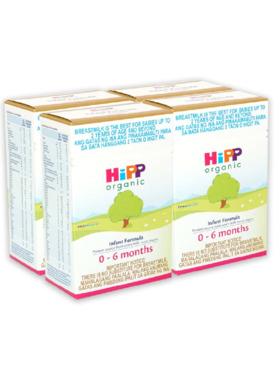HiPP Organic Bag-in-Boxes  Infant Formula 0-6 Months (400g x 4)
