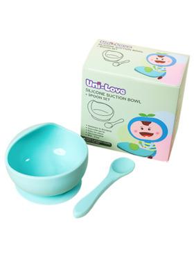 Uni-love Silicone Suction Bowl + Spoon Set