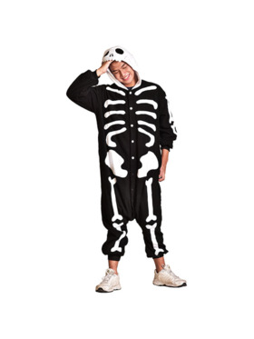 Happy Hoodies Skeleton Onesie for Parents (Petite)